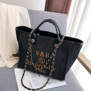 Canvas Tote Bag Europe and America Fashion Big Bag 2020 Tide New Shoulder Bags Short-distance Travel Bag