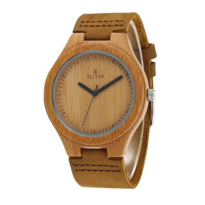 Wooden watch leather couple models bamboo and wood watches