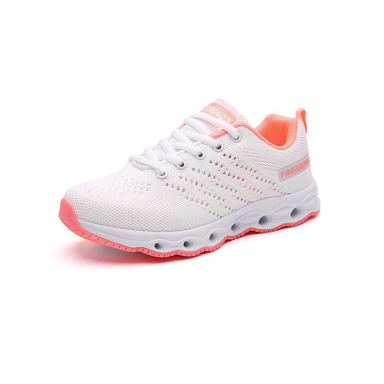 2020 summer sports shoes, new women, breathable mesh, thick soles, Korean running shoes, light air cushion