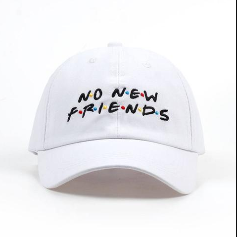 No New Friends Embroidery Hats