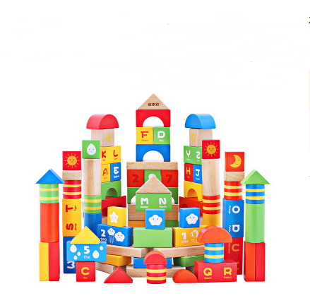 Wood play family children's wooden building blocks toys Men and women baby multi-function assembling enlightenment puzzle building blocks