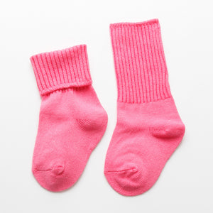 Autumn and winter thick warm baby socks double needle cotton socks relent in tube of 0-1-3 years old children socks