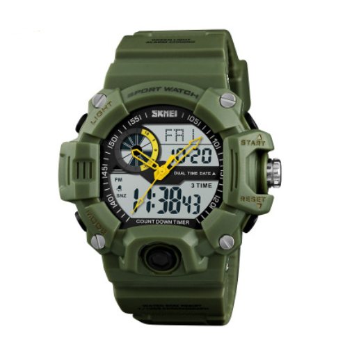 Men's watch outdoor sports waterproof and shockproof multi-function popular electronic watch