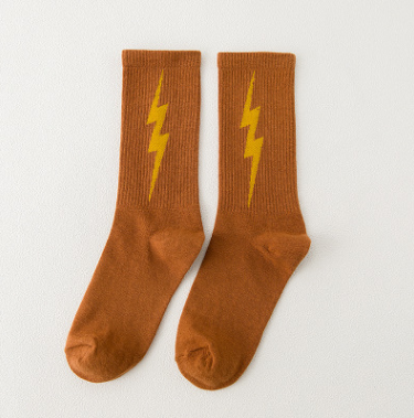 Cotton sports wind lightning socks ladies socks