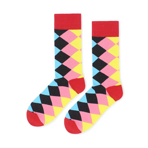 New classic striped socks men's street socks personality skateboard cotton socks