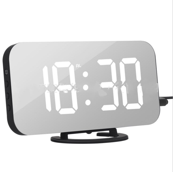 Mobile phone charging mirror electronic snooze alarm clock