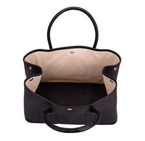 Genuine Leather Tote with Top Handles- A Series