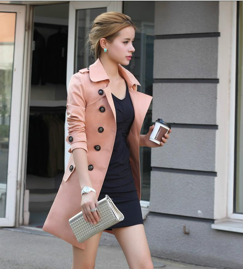Elegant Fitted Trench Coat