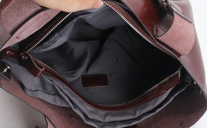 Elegant Leather Workplace Tote