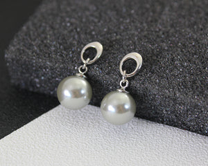 Sparkling Drop Pearl Necklace Set