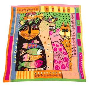 Art Cat Silk Scarf