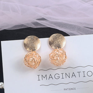 Caged Pearl Drop Earrings