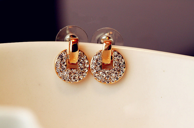 Dainty Crystal Encrusted Stud Earrings