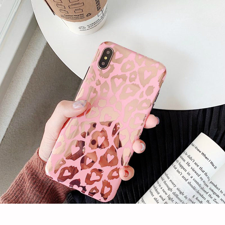 Pink & Gold Hearts iPhone Case