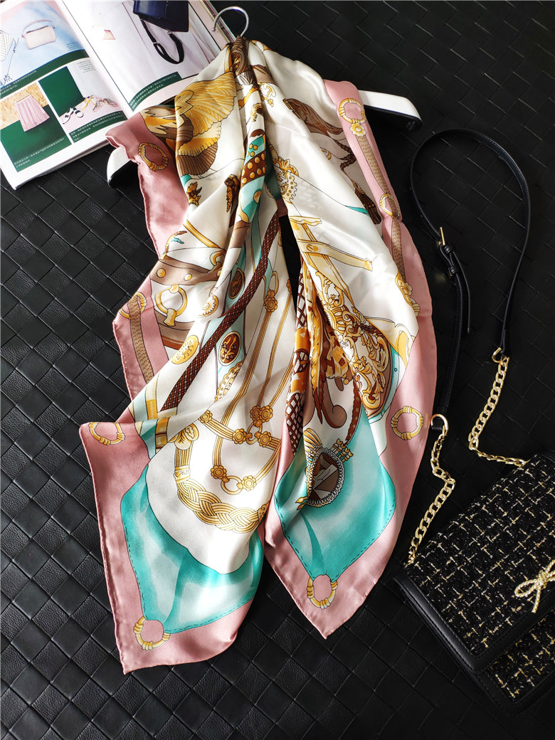 Golden Trellis Silk Scarf