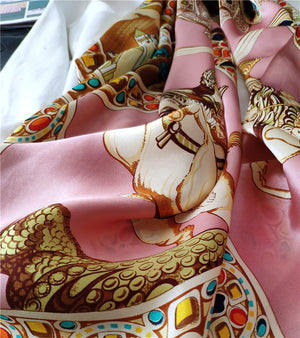 Pink Fancy Silk Scarf
