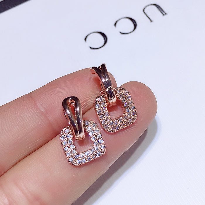 Sublime Crystal Encrusted Earrings