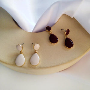 Beautiful  Monochrome Drop Earrings