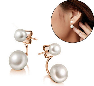 Floating Double Pearl Earrings