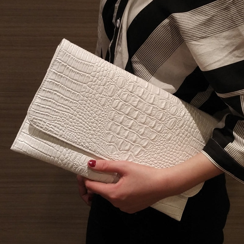 Fancy Faux Croc Clutch