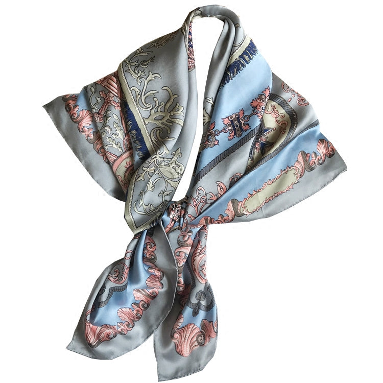 Chic Blue Horse Silk Scarf