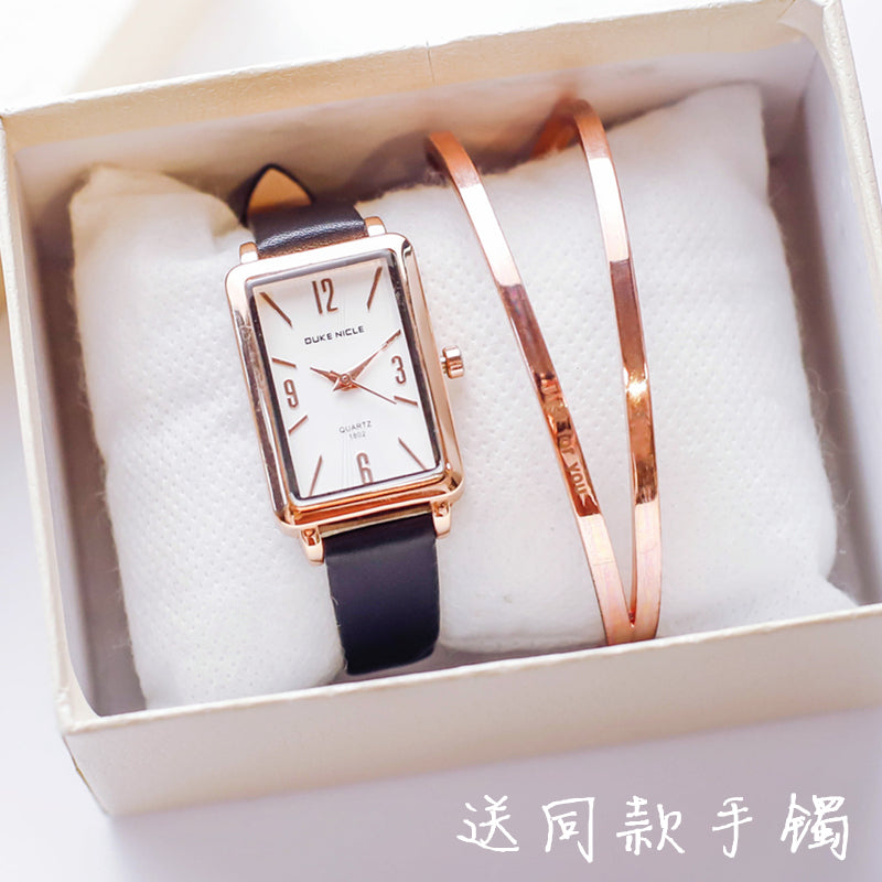 Elegant  Ladies Square  Wrist Watch