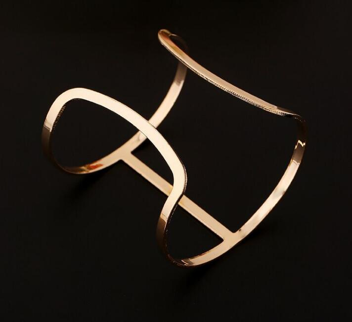 Glossy Cut Out Cuff Bracelet
