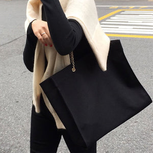 Wonderful Chain Link Canvas Workplace Tote