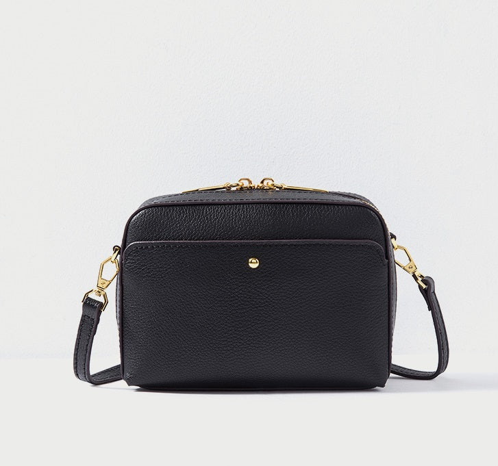 Handy Double Zipper Crossbody Purse