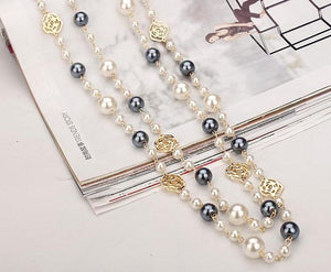Fabulous Pearl and Flower Necklace