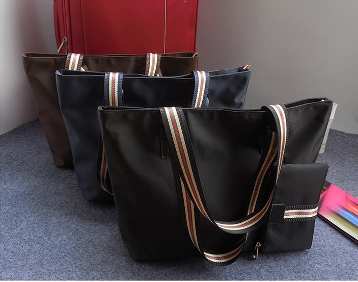 Beautiful Striped Handle Work Tote
