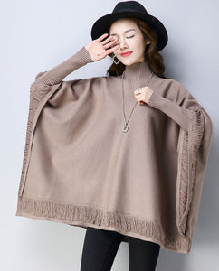 Sexy Vent Detail Sleeved Poncho