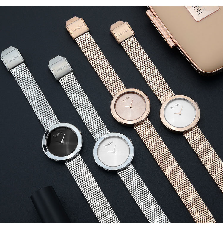Sleek Mail Link Strap Watch