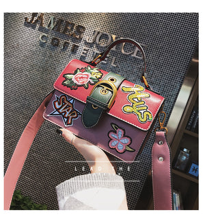 Chic Applique Crossbody Bag