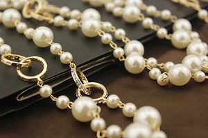 Interlocked Rings Pearl Necklace