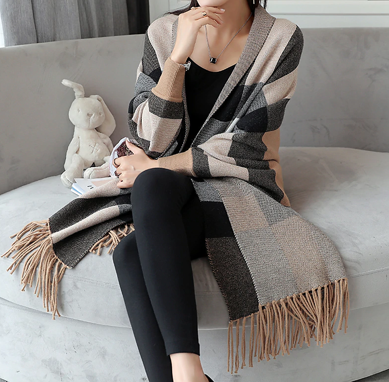 Striking Striped Sleeved Wrap
