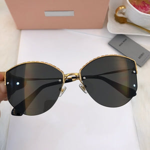Classic Crimped Frame Sunglasses