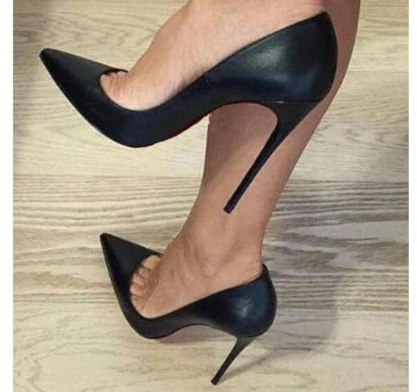 Women 12cm Pumps High Heels Shoes Patent Leather Stiletto Pointed Toe Woman Office Shoes Lady Wedding Party High Heels