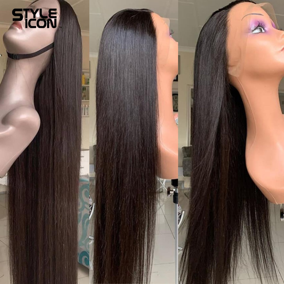Brazilian 13*4 Lace Front Human Hair Wigs 8-30 inches Straight Ear to Ear Lace Frontal Wigs  Styleicon Straight Lace Front Wig