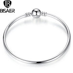 Original silver bangle indian Jewelry Authentic Charm Bracelet Beads Fit Original Charms Bracelet For Women Fine Jewelry GO9003