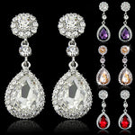 Sterling Crystal Drop Earrings