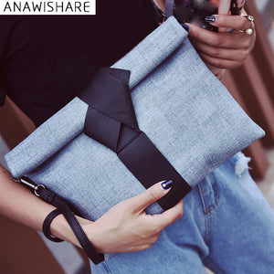 Blue on Blue Knot Clutch