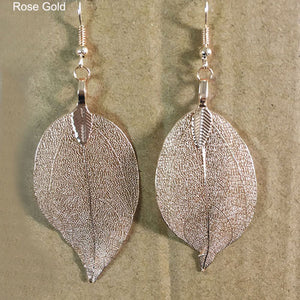 Mesh Leaf Earrings