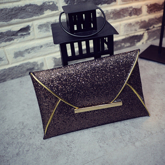 Sequin Envelope Clutch
