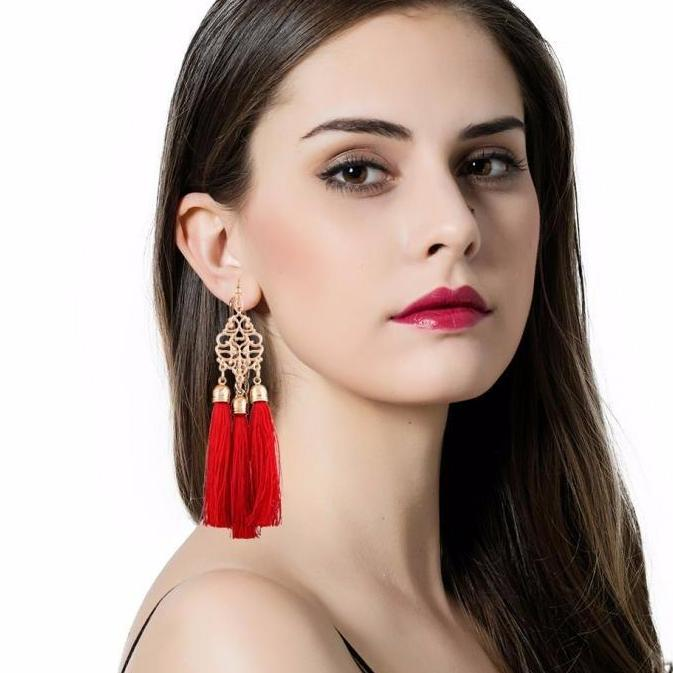 Long Tassel Fringe Earrings