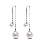 Long Pearl Sling Earrings