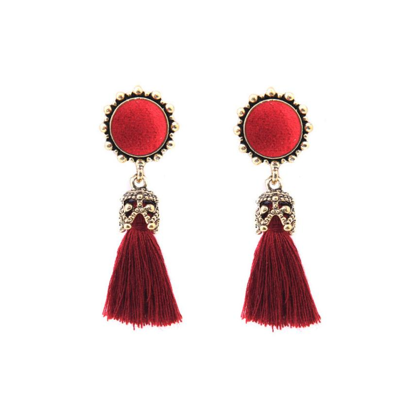 Vintage Rhinestone & Crystal  Tassel Earrings