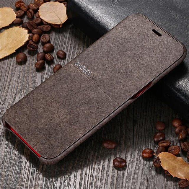 Luxury Retro Classic Flip Leather Case For Samsung Galaxy