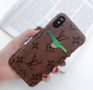 Signature Print Print iPhone Case with Card Slot