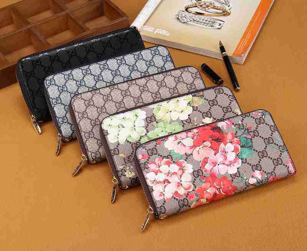 Pretty Floral Leather Wallet
